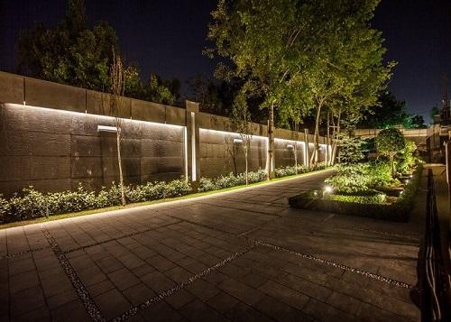 نورپردازی باغ و ویلا