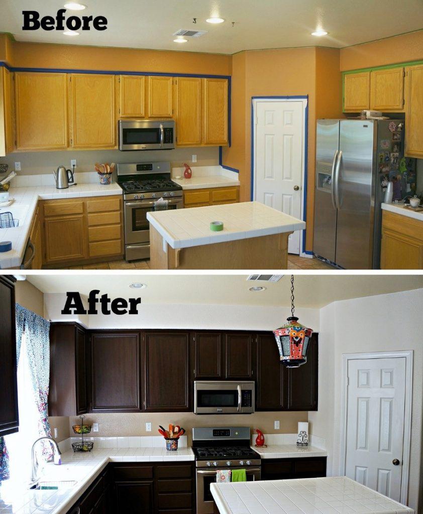 قبل و بعد بازسازی خانه