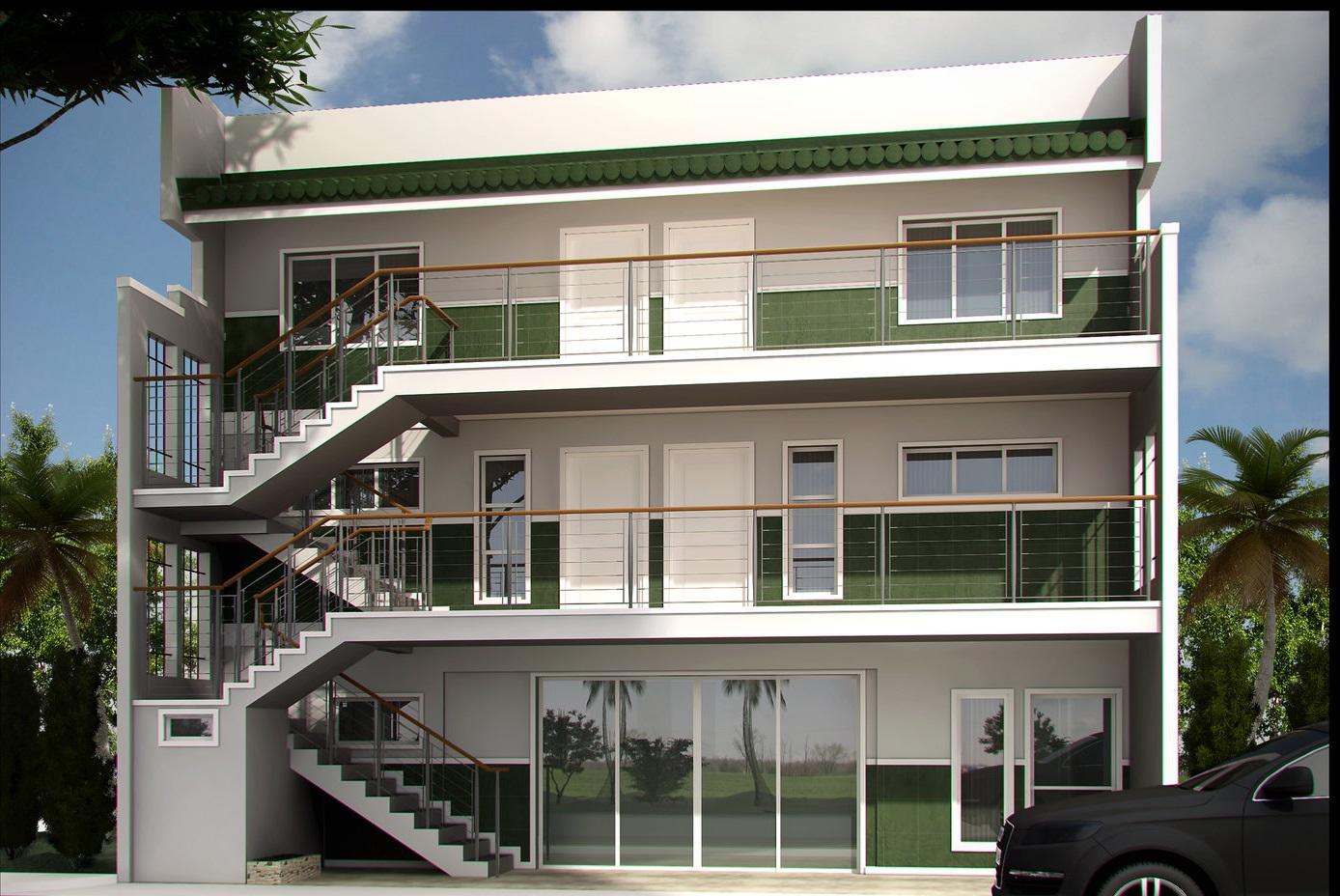 اجرای نمای ساختمان مسکونی 3 طبقه