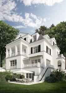 طراحی نمای ساختمان مسکونی سه طبقه