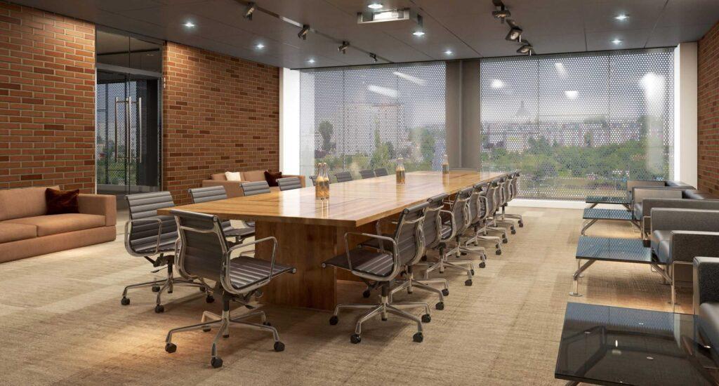 طراحی داخلی ساختمان اداری