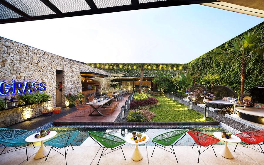 طراحی فضای باز رستوران